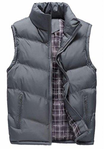 Front Men Sleeveless Zip UK Trim today Stand Vest Fit Puffer Grey Jackets Collar wpfnYqwxO