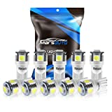2012 Ford Fusion License Plate Light Bulbs - Marsauto 194 LED Light Bulb 6000K 168 T10 2825 5SMD LED Replacement Bulbs for Car Dome Map Door Courtesy License Plate Lights (Pack of 10)