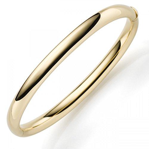 Bracelet Jonc Bracelet en or jaune 585-Largeur 6mm or bracelet femme