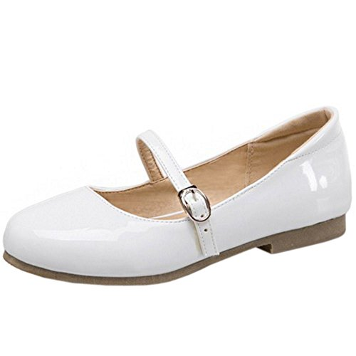 Zapatos White Mujer Dulce Plano Zanpa 2 Ballet qI8ZCw