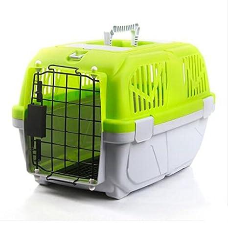 CTZLL Caja fuera facturado maleta mascota gato perro jaula jaulas de mascotas de PET Airways , green: Amazon.es: Hogar