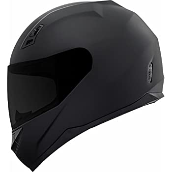 GDM DK-140-MB Duke Series Full Face Motorcycle Helmet with Clear and Tinted Visors - Large, Matte Black