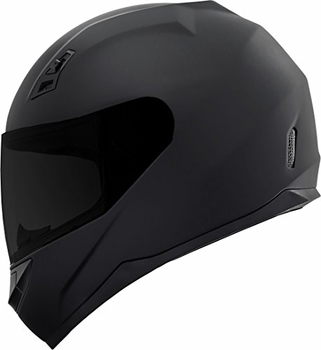 GDM DK-140-MB Duke Series Full Face Motorcycle Helmet with Clear and Tinted Visors - Medium, Matte Black ()