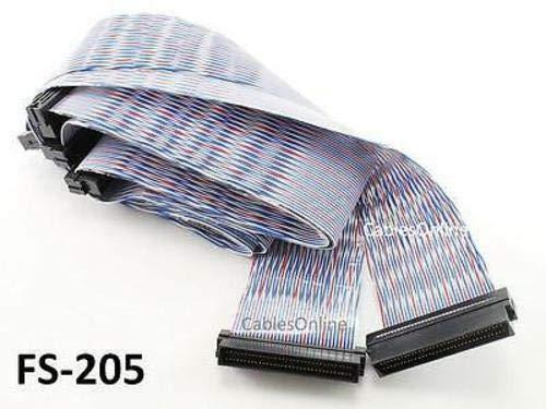 FS-205 - Ultra-2 SCSI Twist-N-Flat 68-pin LVD 5-Drive Internal Ribbon Cable - 58
