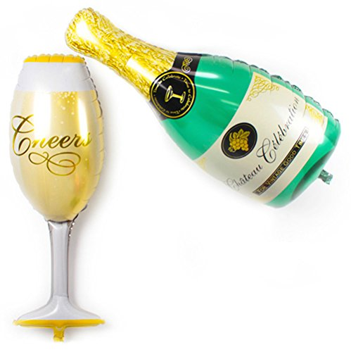 DECORA Cheers Champagne Bottle Balloon product image