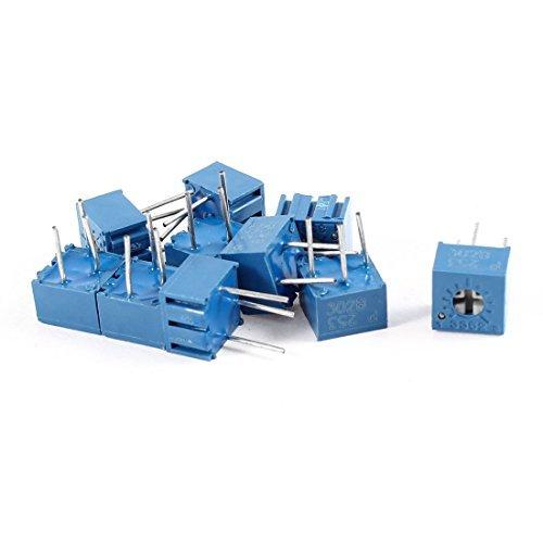 DealMux a14052600ux0951 10 Piece 25K Ohm 3326W 3 Pins Trim Pot Trimmer Potentiometer, 253
