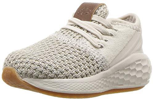 affordable New Balance Boys' Fresh Foam Cruz Hook and Loop Running Shoe, Moonbeam/Stone Grey, 3 W US Infant