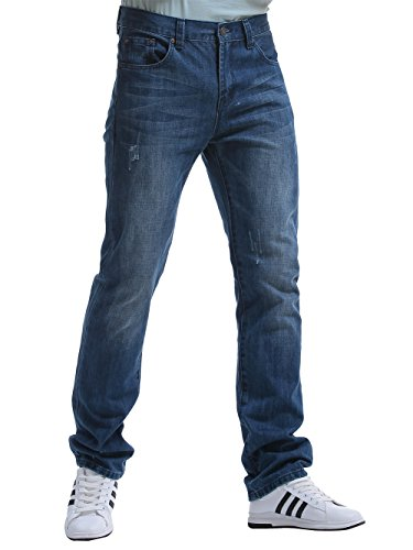 Alice & Elmer Men's Regular Slim Fit Straight Leg Jeans