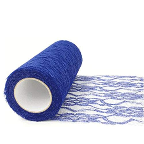 Lace Craft - 15cm x 10yard Tulle Organza Roll Fabric Sheer Gauze Element for Table Runner and Home Garden Wedding Party Decoration - (Color: Royal Blue) from Laliva