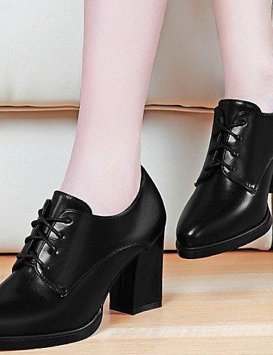 ZQ hug Zapatos de mujer - Tacón Robusto - Tacones / Plataforma - Tacones - Oficina y Trabajo / Vestido / Casual / Fiesta y Noche - Sintético - , red-us8 / eu39 / uk6 / cn39 , red-us8 / eu39 / uk6 / cn black-us7.5 / eu38 / uk5.5 / cn38