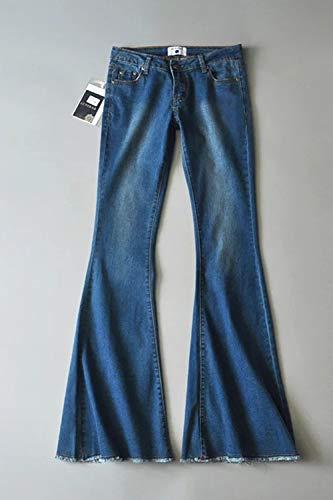 Acampanados Denim Vepodrau Casual Jeans Campana Pantalones Marino Botton Mujer Azul WxrqCnSq0