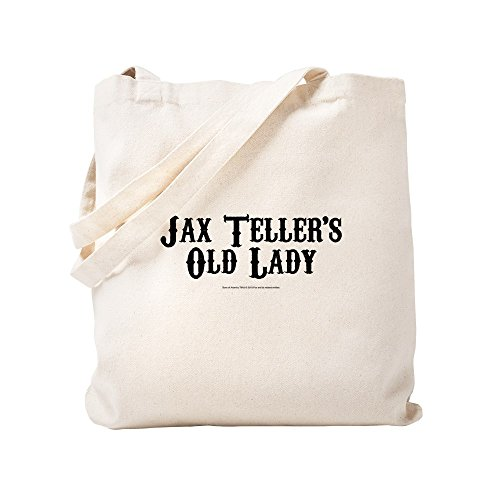 CafePress SOA Old Lady Natural Canvas Tote Bag, Cloth Shopping Bag (Sons Of Anarchy Old Lady T Shirt)