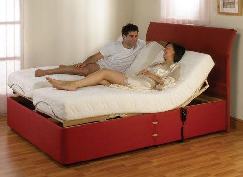 Carla Memory Foam Adjustable Bed Red