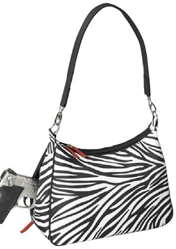 - GTM Gun Tote'n Mamas Concealed Carry Basic Hobo Handbag, Zebra, Small