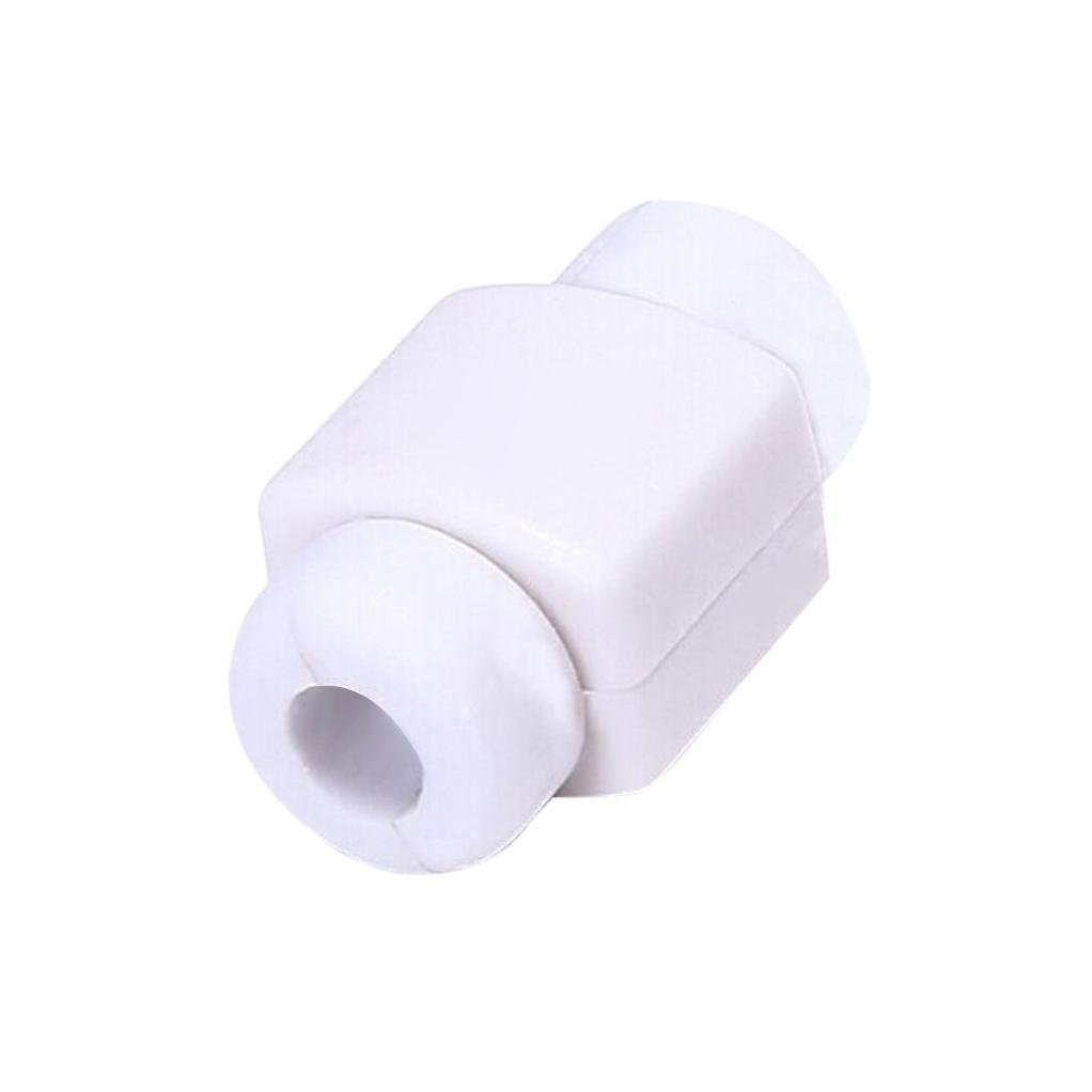 Earphones USB Data Cable Line Protective Sleeve (White) by Dacawin (Image #1)