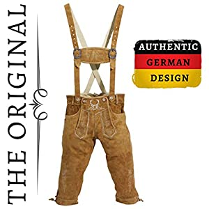 Lederhosen Men – The Original from Germany – Authentic German Oktoberfest Outfit/Costume – Real Leather