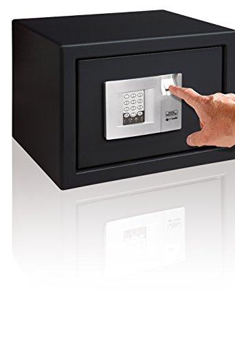 BURG-WÄCHTER Möbeltresor, Elektronisches Zahlenschloss mit Fingerscan-Modul, Wand- und Bodenbefestigung, PointSafe P 2 E FS