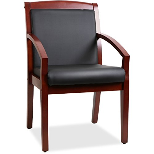 LLR20014 – Lorell Sloping Arms Wood Guest Chair