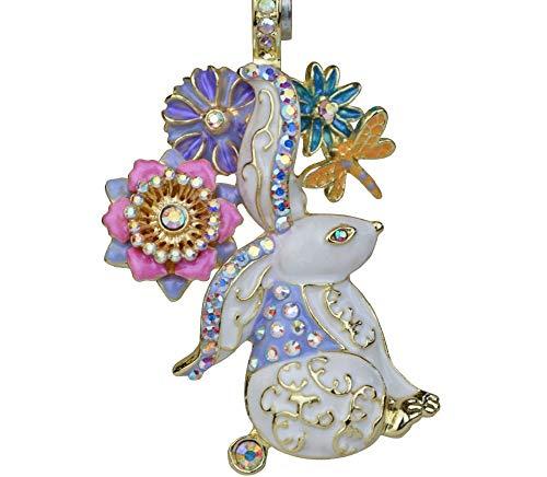 Kirks Folly Elegant Easter Bunny Magnetic Enhancer (Goldtone)
