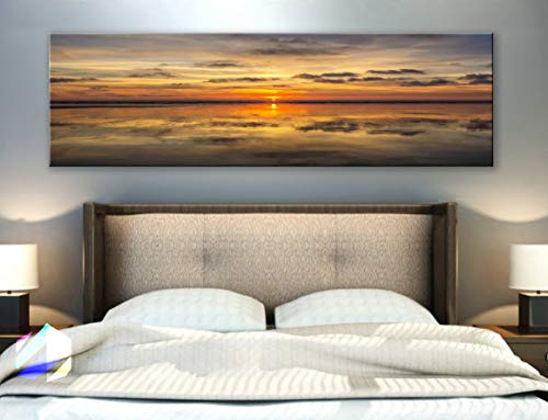 (BoxColors - Single panel 3 Size Options Art Canvas Print Sun Nature beach tropical ocean seascape sea relax sunset Wall Home Office decor (framed 1.5