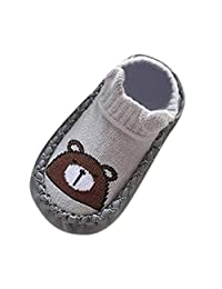 Iuhan Toddler Slipper Socks, Newborn Indoor Cute Anti-Slip Socks Slipper Shoes Boots