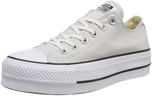 190b907b3a68 Converse Women s CTAS Lift OX Mouse White Black Trainers
