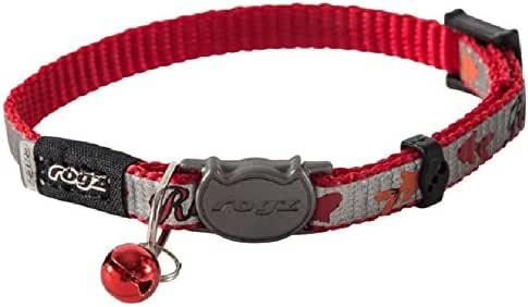 Rogz Reflectocat Safeloc Collar, Red Fish, XS