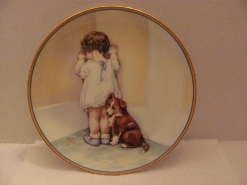 "Vintage - ""In Disgrace"" Collector's PLATE / 1st Issue (approx. 8 3/8"" Diameter) - from the ""A Child's Best Friend"" Collection - 1985 - by Bessie Pease Cutmann / The Hamilton Collection"
