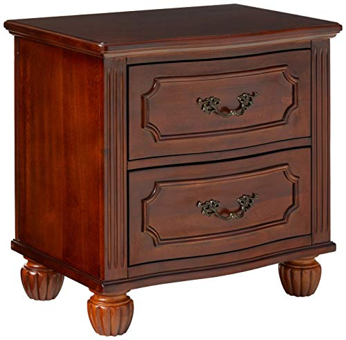 Poundex Nightstands, Brown (Brown Nightstand Small)