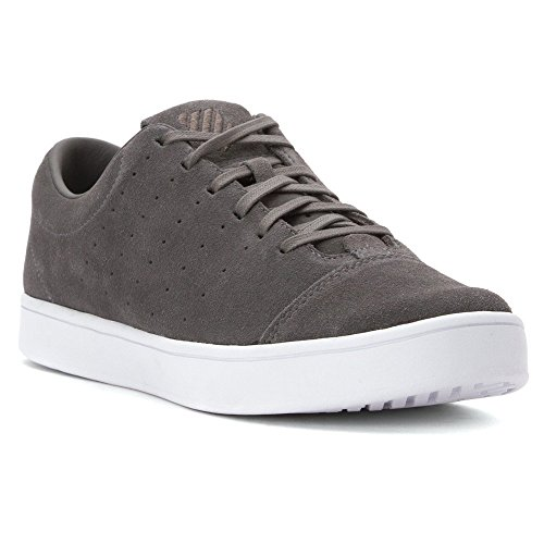 K-Swiss Men's Washburn Suede Fashion Sneaker, Charcoal/White, 12 M US