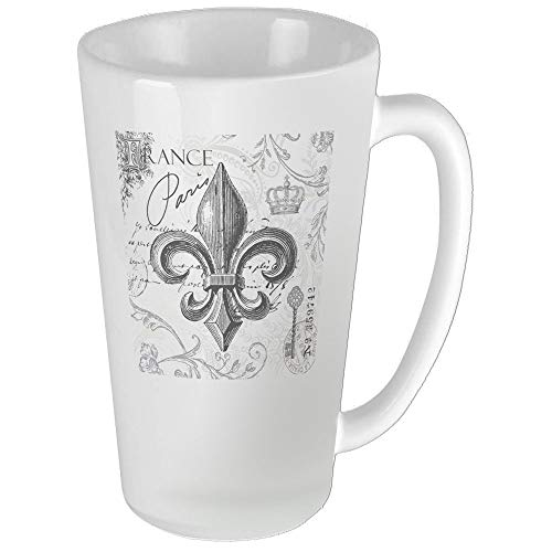 - Vintage French Fleur De Lis Funny Coffee Mug Cool Coffee Tea Cup 17 Ounces Perfect Gift for Family and Friend
