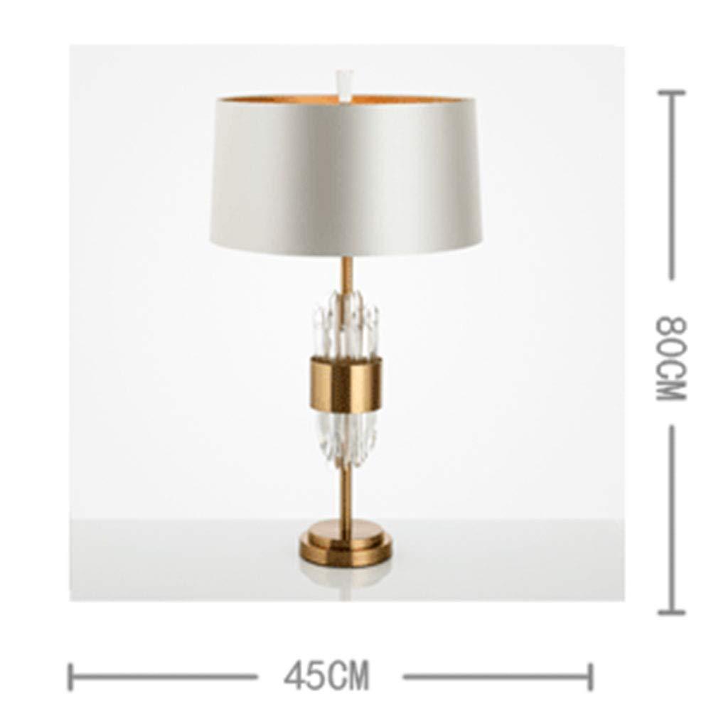 JL-Q Designer postmoderne Luxus-Kristalltisch Lampe American Model House Villa Wohnzimmer Wohnzimmer Wohnzimmer Schlafzimmer kreative Kunst-Tisch-Lampe E27 Lichtquelle B07MXYNF4N | Kostengünstiger  f539d4