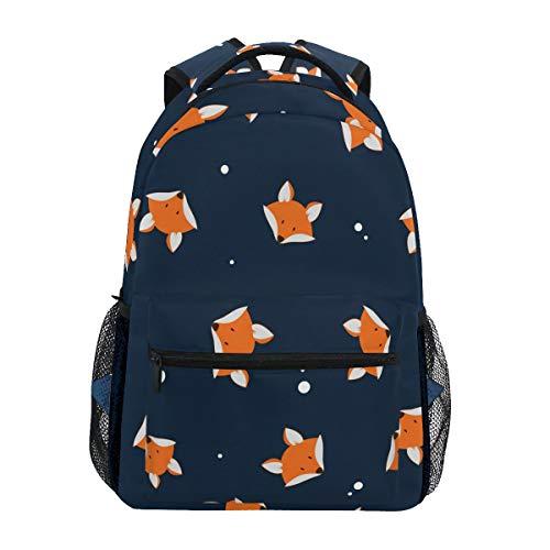 TropicalLife Cute Cartoon Fox Backpacks School Bookbag Shoulder Backpack Hiking Travel Daypack Casual Bags