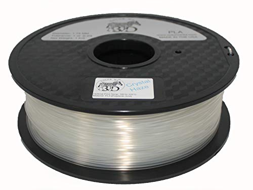 COLORME3D Quality 3D Printer Filament Crystal Haze PLA-1KG (2.2 lbs) Made in The USA 1.75 mm +/- 0.05 mm Accuracy-Crystal Haze PLA