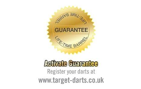 Target Darts Cible Fl/échettes Carrera Titanium Fl/échettes /à Pointe en Acier Noir