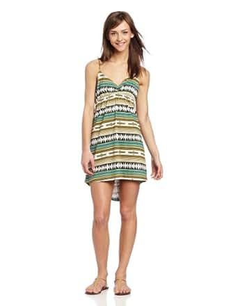 RVCA Juniors Social Rank Dress, Lagoon, X-Small