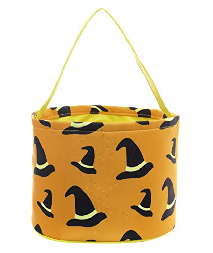 E-FirstFeeling Halloween Candy Bags Trick or Treat Bags Halloween Basket Goody Gift Bucket (Witch Hat -