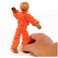 Yogi Super Flexi WoodenToy - Bend him The Way You Want - Wooden Human Art posable Drawing Flexible Joints Figures Doll Model for Artists Sketch for Home Office Desk Decoration Children Toys Gift