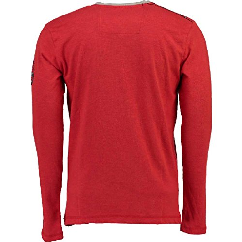 shirt Manches Norway À Rouge Geographical Longues T Homme RTWgIBn