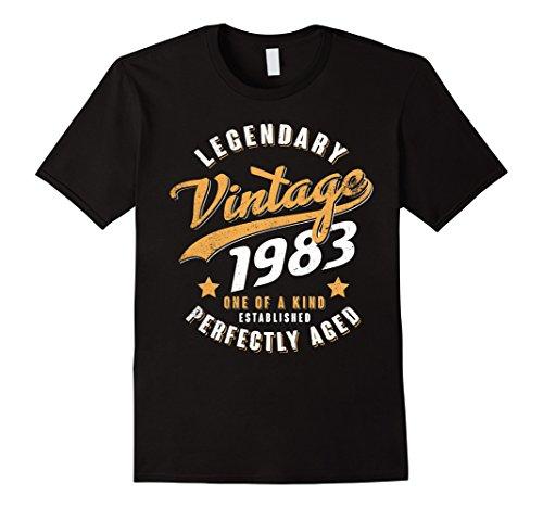 Mens Vintage 1983 35th birthday gift 35 years old 35 yrs Medium Black
