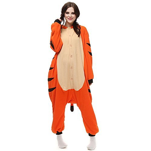 SHDIBA One Piece Cosplay Adult Pajamas - Unisex Animal Onesie Costume Set for Chrismas,Party,Occasions (Halloween Costumes With Next Day Delivery)