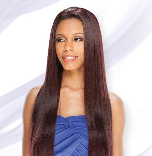 AMERIE 28'' (#1B Off Black) - Shake N Go FreeTress Equal Lace Front Synthetic Hair Wig