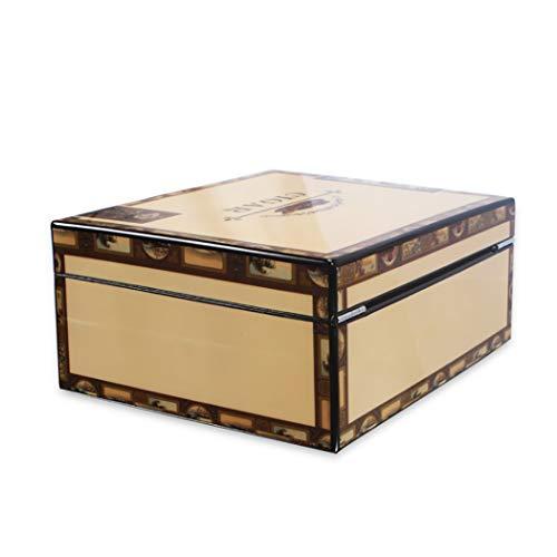$223.99 antique humidor LHFJ Cigar Humidor Cedar Wooden Cigar Organiser Cigar Cabinet with Exquisite Pattern, Capacity 30 2019