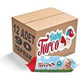 Baby Turco Islak Havlu Mendil Klasik 100 Yaprak 12 Li Set Plastik Kapaklı