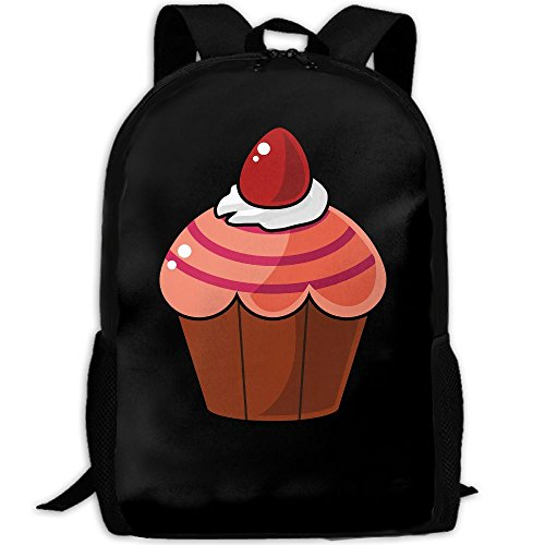 Cupcake Double Shoulder Backpacks For Adults Traveling Bags Full Print Fashion by THIS STORE