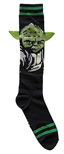 Hyp Star Wars Yoda with Ears Costume Suit Up Junior/Women's Socks Shoe Size 4-10 -