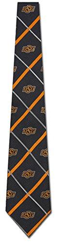 Oklahoma State Cowboys NCAA Silver Line Woven Silk Mens Tie College Sports Fashion