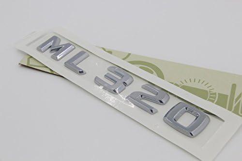 E813 Ml 320 Emblem Badge Auto Aufkleber Schriftzug Hinten Abzeichen Car Sticker Zahlziffer Chrom Ml 230 Auto