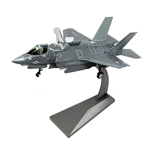 Fighter Model, 1:72 Scale Reduction US Fighter F35B Finished Simulation Alloy Model, Military Non-Souvenir Souvenirs