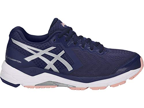 ASICS Women's Gel-Foundation 13 Running Shoes, 9M, Indigo Blue/Silver/Seashell Pink - Indigo Shoes Com
